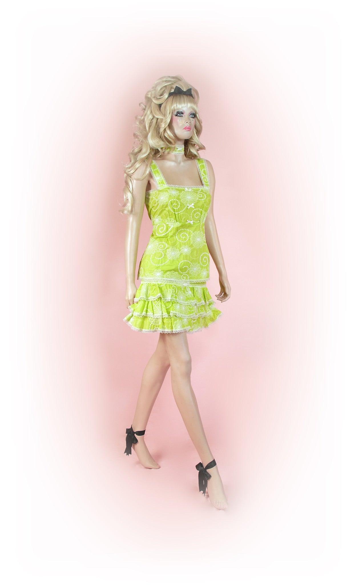 Lime<br>Dream Anglaise Frilly Mini