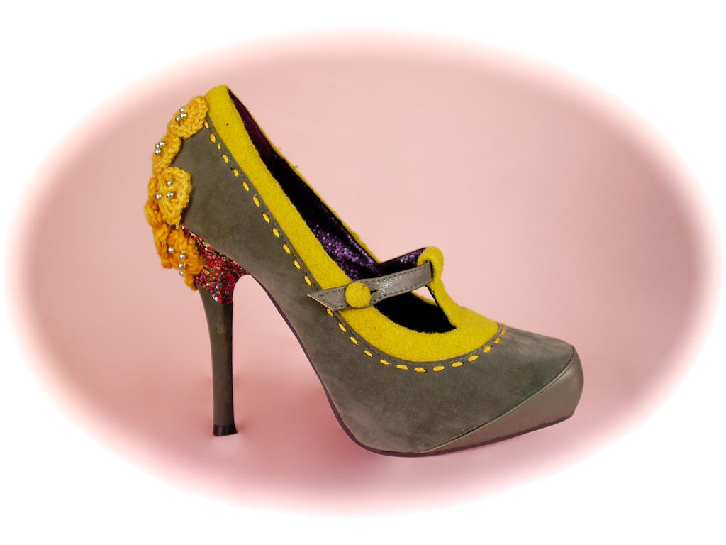 Irregular Choice/Poetic Licence<br>Famous Floral Grey