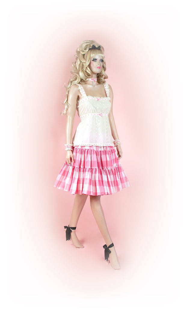 Pink<br>Picnic Gingham Knee