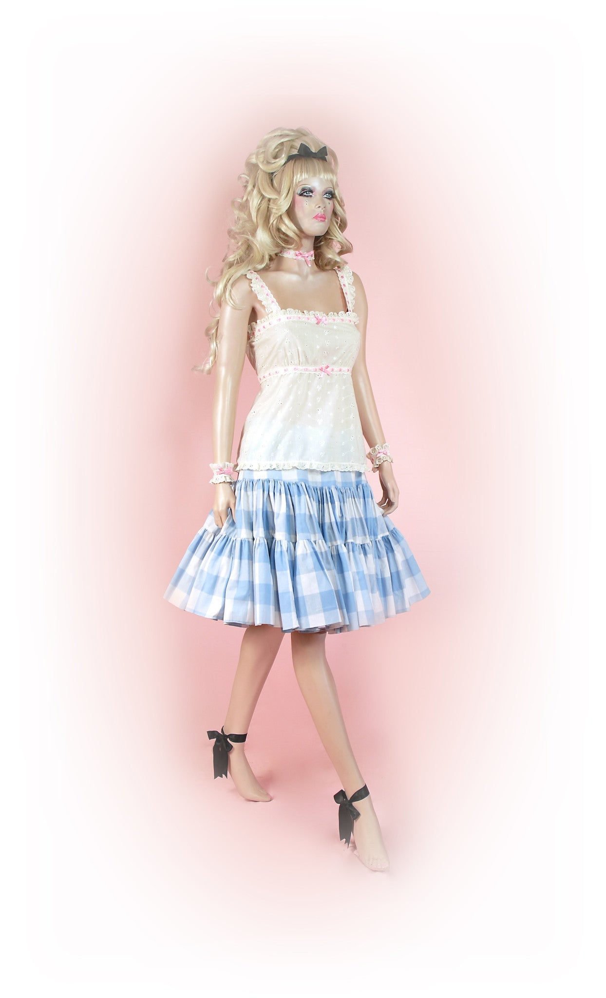Blue<br>Picnic Gingham Knee