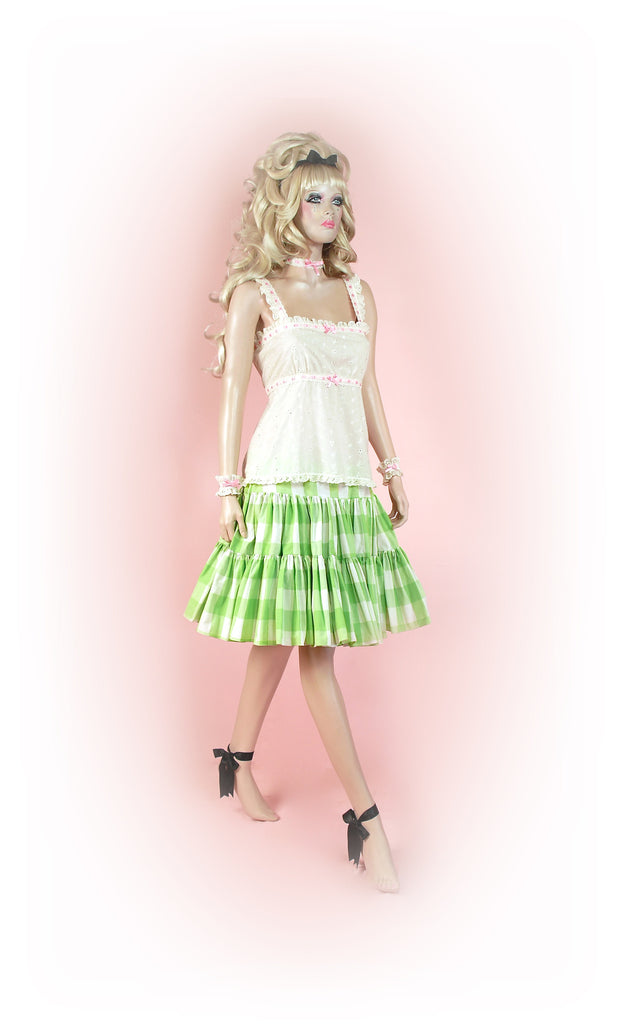 Green<br>Picnic Gingham Knee
