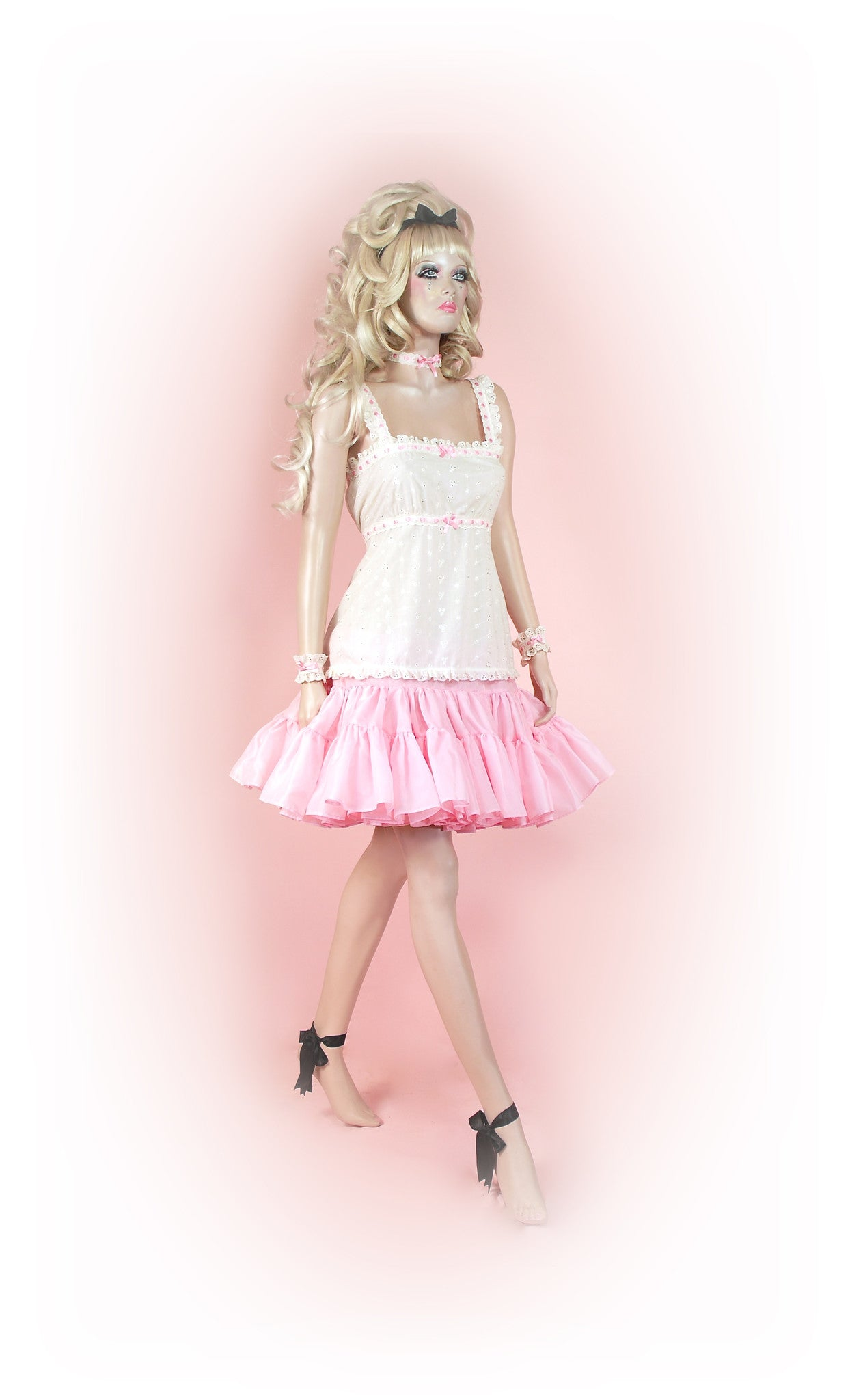 Cream/Pink<br>Romantic Anglaise Strap