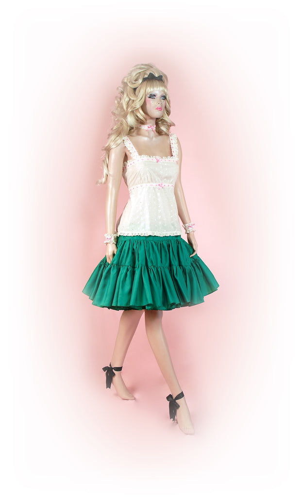 Gorgeous Green<br>Tutu Knee