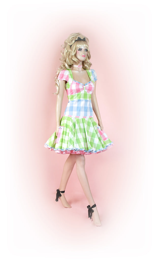 Green<br>Crazy Gingham