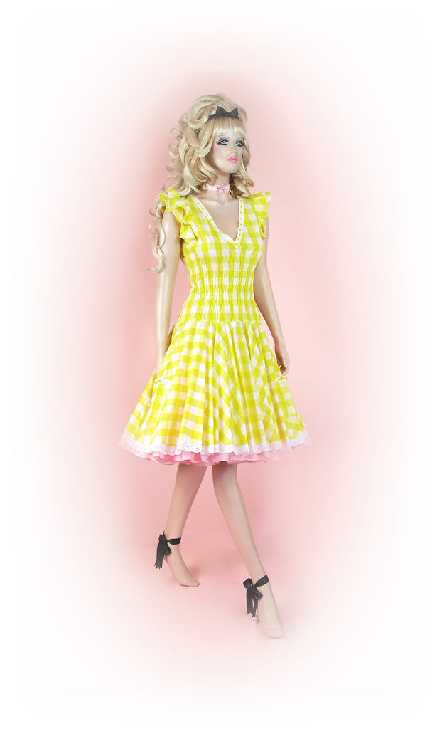 Yellow<br>Picnic Gingham Long