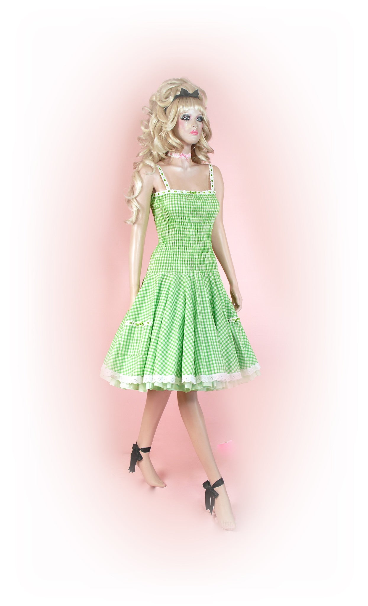 Green<br>Picnic Gingham Long