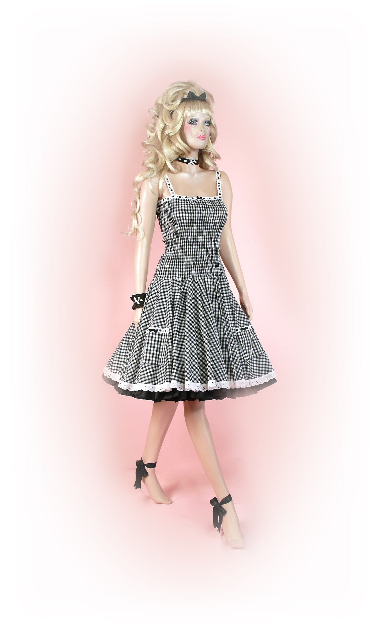 Black<br>Picnic Gingham Long