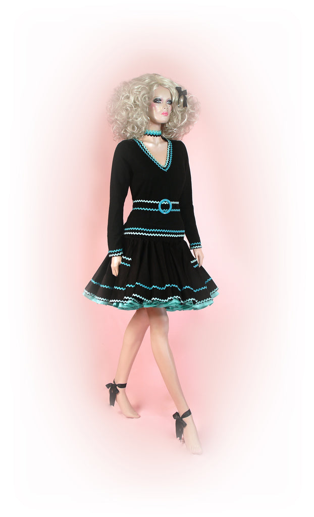 Black/Turquoise<br>Radiant Ric Rac