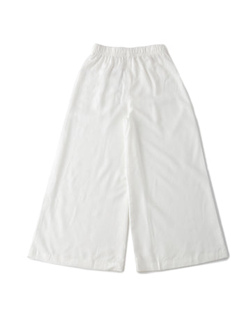 De Moza Kids - Girls Palazzo Woven Bottom Solid Rayon Offwhite - De Moza