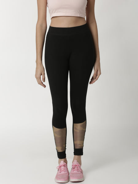 De Moza Women's Ankle Length Leggings Black - De Moza