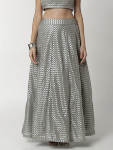 De Moza Ladies Light Grey Skirt - De Moza