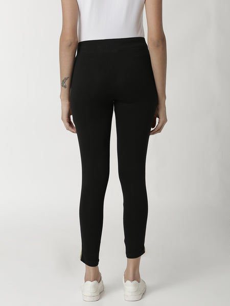 De Moza - Ladies Gold Ankle Length Leggings - De Moza