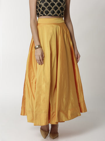 De Moza Ladies Skirt Mustard - De Moza