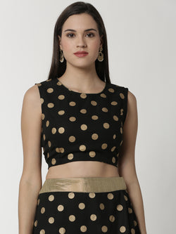 De Moza Ladies Crop Top Black - De Moza