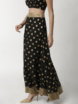 De Moza Women's Printed Skirt Black - De Moza