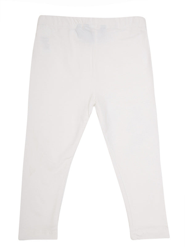 De Moza - Girls Ankle Length Leggings White - De Moza