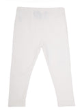 De Moza  - Girls Ankle Length  Leggings Solid White - De Moza