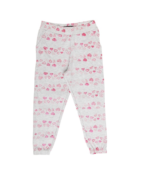 Kids - Girls Harem Pant Grey Melange