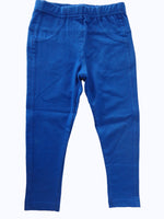 De Moza Kids - Girls Jeggings Solid Cotton Lycra Cobalt - De Moza