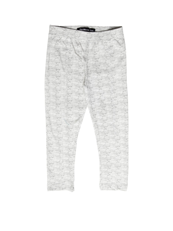 Kids - Girls Printed Leggings White - De Moza