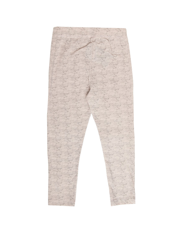Kids - Girls Printed Leggings Peach - De Moza