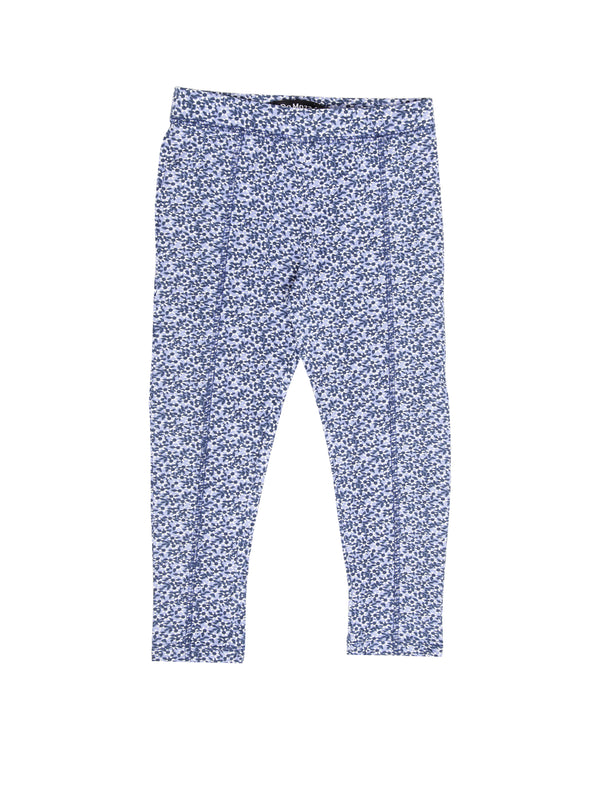 Kids - Girls Printed Leggings Light Blue - De Moza