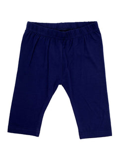 Young - Girls Leggings 3/4th Leggings Dark Navy Blue - De Moza