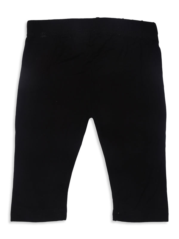 Kids - Girls 3/4th Leggings Black