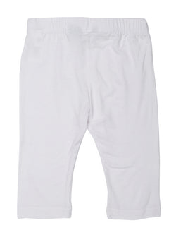 Kids - Girls 3/4th Leggings White - De Moza