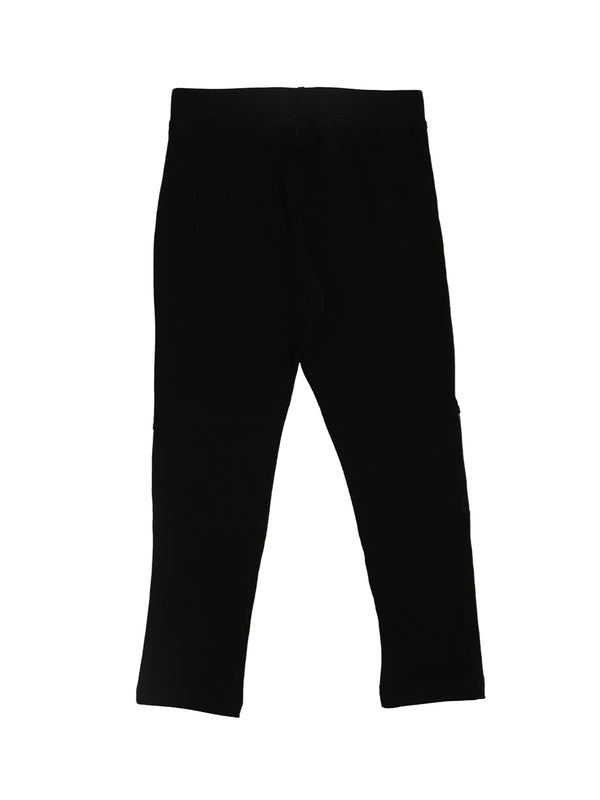 De Moza Kids - Girls Ankle Length Leggings Black - De Moza