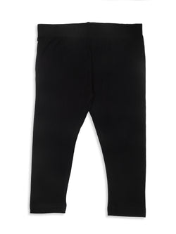 De Moza-Girls Ankle Length Leggings Black