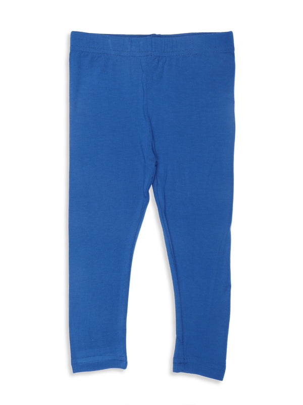 Girls Viscose Ankle Length Cobalt Leggings - De Moza