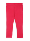 De Moza Kids - Girls Ankle Length Leggings  Solid Viscose Lycra Fuchsia - De Moza