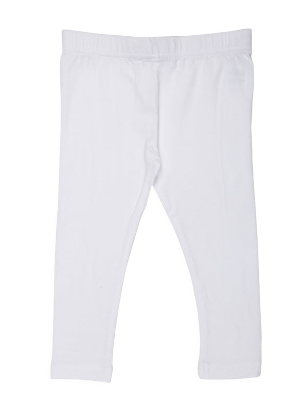 Kids - Girls Ankle Length Leggings white - De Moza