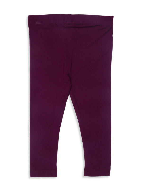 Kids - Girls Ankle Length Leggings Purple