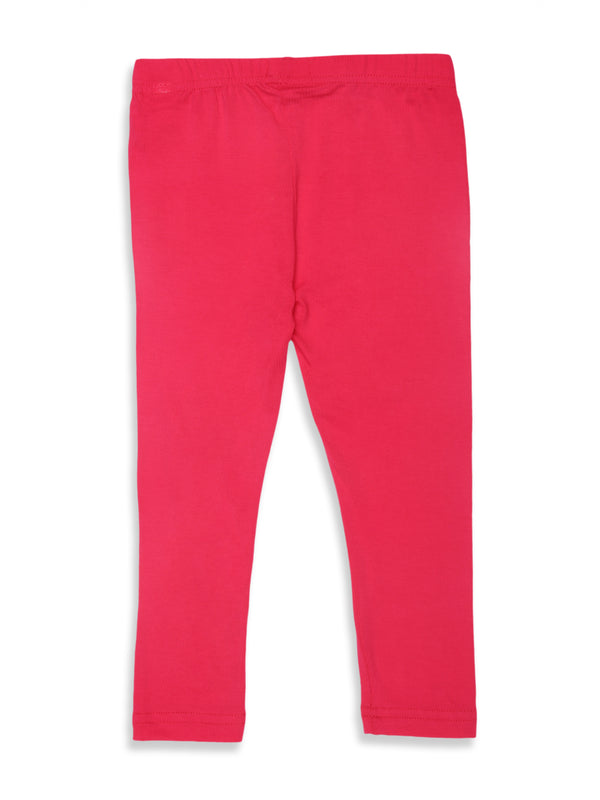 Kids - Girls Ankle Length Leggings Fuchsia - De Moza