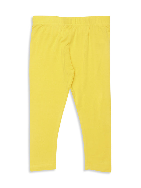 Kids - Girls Ankle Length Leggings Golden Yellow - De Moza