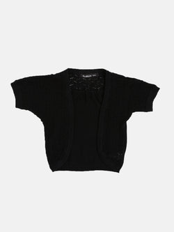 Kids - Girls Cotton Shrug Black - De Moza