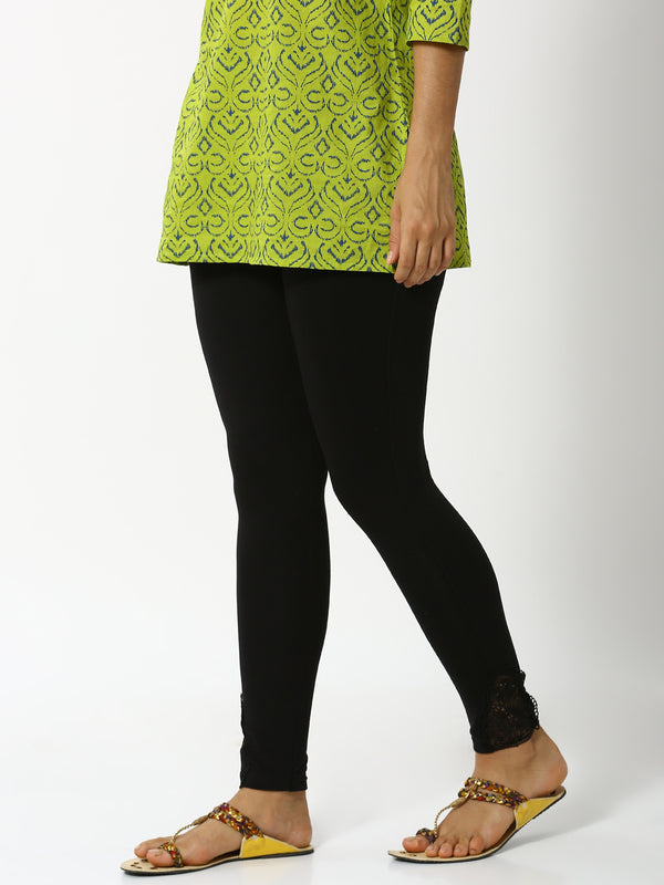 De Moza - Ladies Lace Leggings Black - De Moza