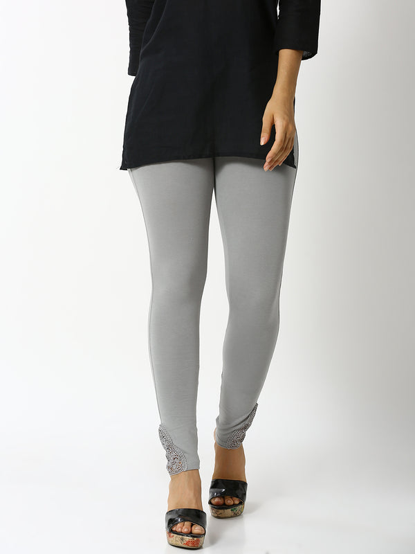 De Moza - Ladies Lace Leggings Grey - De Moza