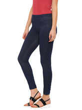 Load image into Gallery viewer, De Moza-Ladies Cotton Blue Jeggings - De Moza