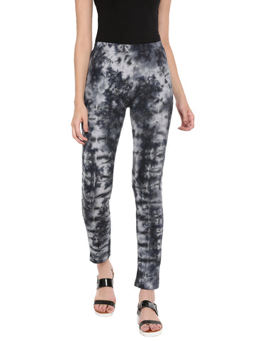 De Moza Ladies Die & Dye Black Knitted Jeggings
