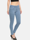 De Moza- Ladies Denim Jeggings Pant Ice Blue - De Moza