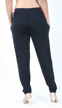 De Moza Ladies  Pleated Pant Viscose Lycra Black