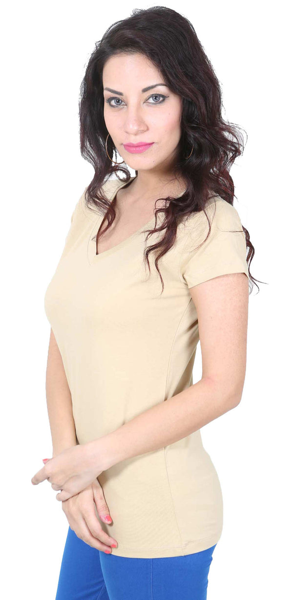 De Moza- Ladies Half Sleeve Plain Top - De Moza
