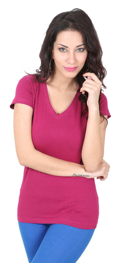 De Moza- Ladies Half Sleeve Knit Top Onion - De Moza