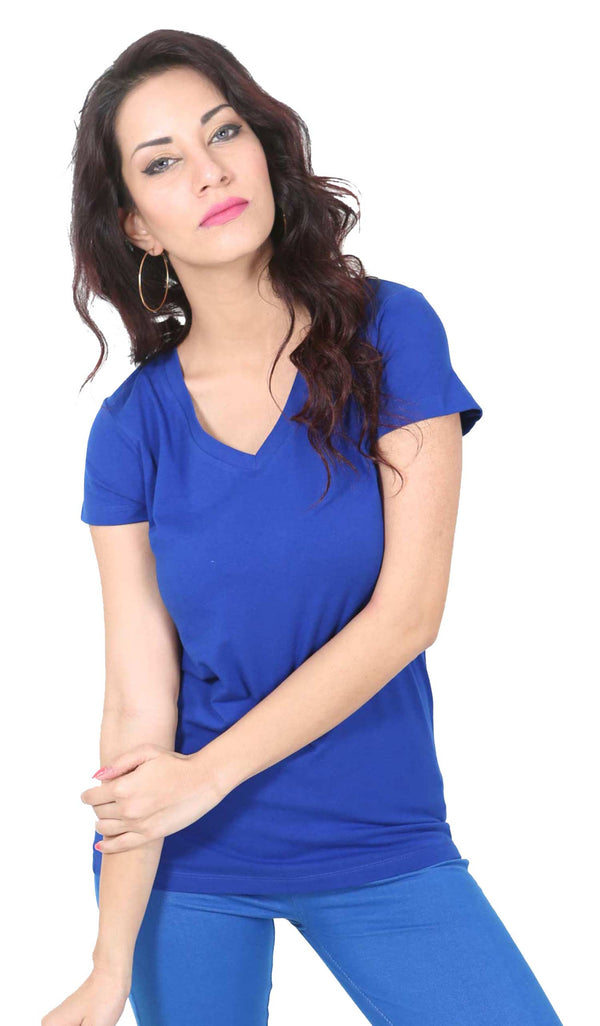 De Moza- Ladies Half Sleeve Royal Blue Top - De Moza
