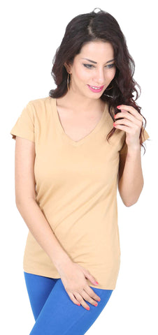 De Moza Ladies Knit Top Half Sleeve 95% Cotton 5% Elastane Skin - De Moza