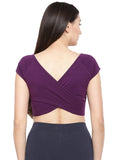De Moza Ladies Deep Blue H/S Crop Top - Deep Blue Crop Top for Ladies