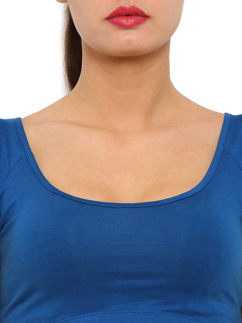 De Moza- Ladies Crop Top Monaco Blue - De Moza